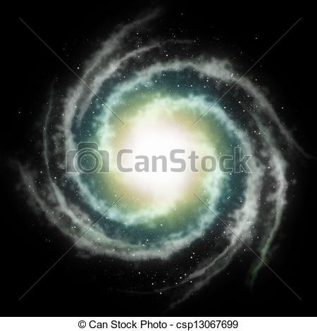 450x470 Spiral Galaxy Background Stock Illustration