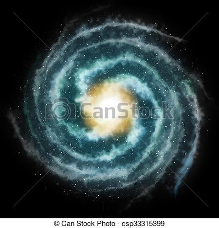 450x470 Spiral Galaxy Stock Illustration