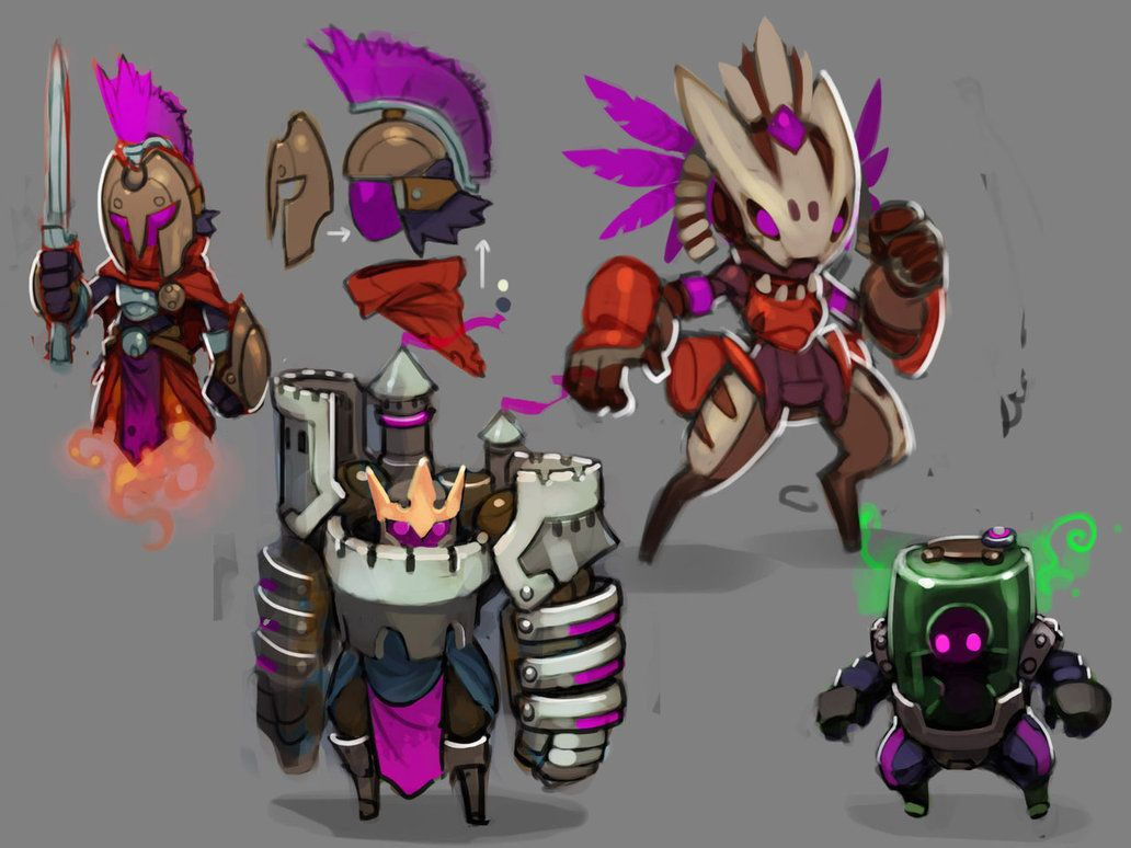 1032x774 Spiral Knights Unused Armor Roughs By Malakym