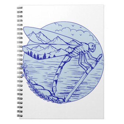 422x422 Dragonfly Mountains In Wings Drawing Notebook Wings Drawing