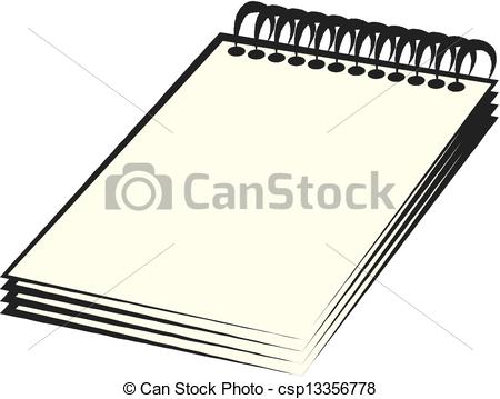 450x359 Spiral Notebook Vectors Illustration