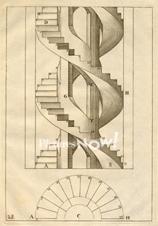 223x320 Architectural Drawing Of Spiral Staircase Royalty Free Stock Image