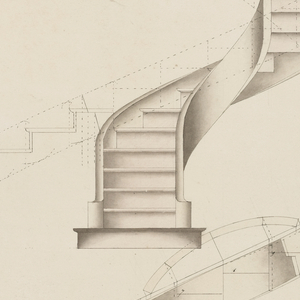 300x300 Drawing, Plan Development And Elevation For A Spiral Staircase