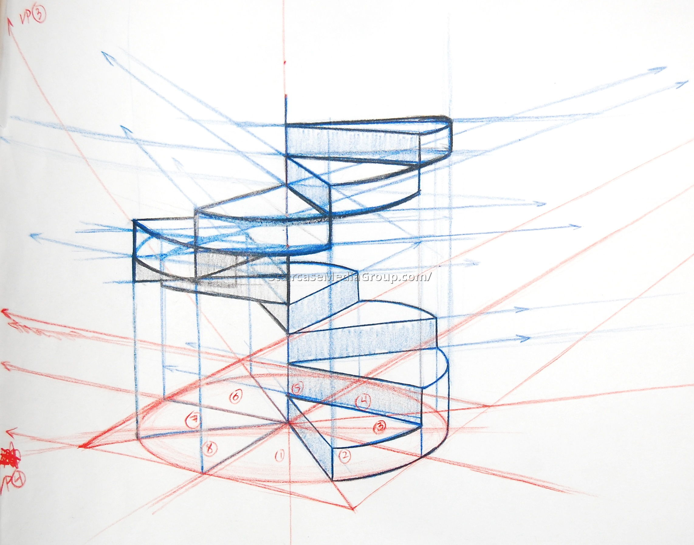 2284x1794 Spiral Staircase Construction 3 Drawings Spiral