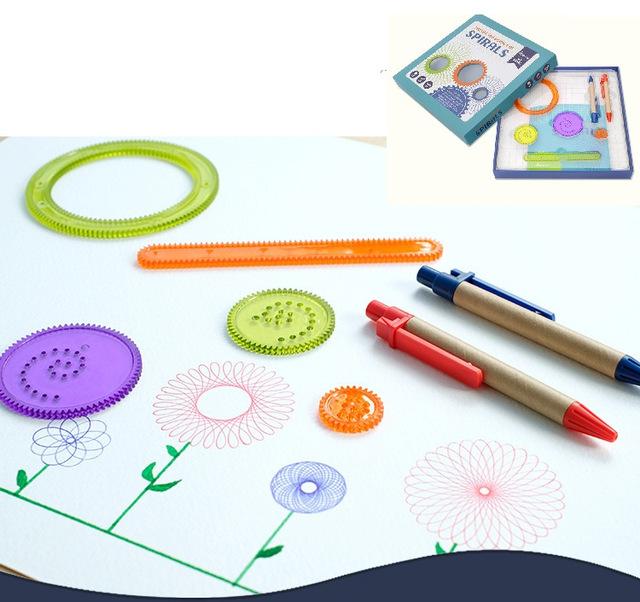 640x602 Amazing Spiral Drawing Toys Multifunctional Variety Creative Diy