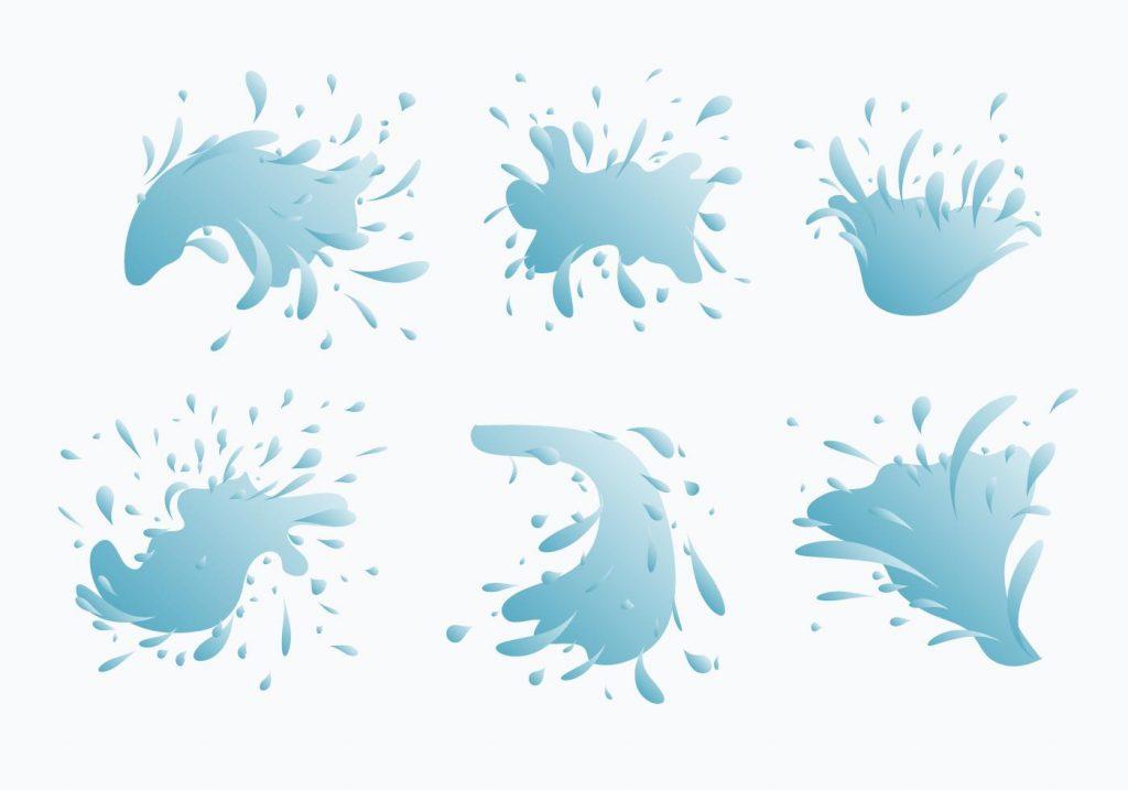 1024x717 Best Water Jet Splash Vector Collection Drawing
