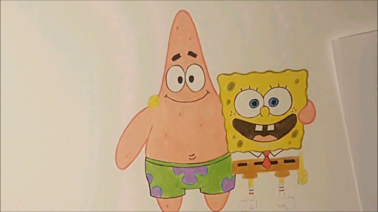 1280x720 Spongebob And Patrick Speed Drawing