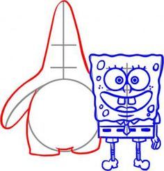 236x246 How To Draw Spongebob And Patrick Step 3 Vector