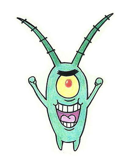 432x550 Draw Sheldon J. Plankton From Spongebob Squarepants Spongebob