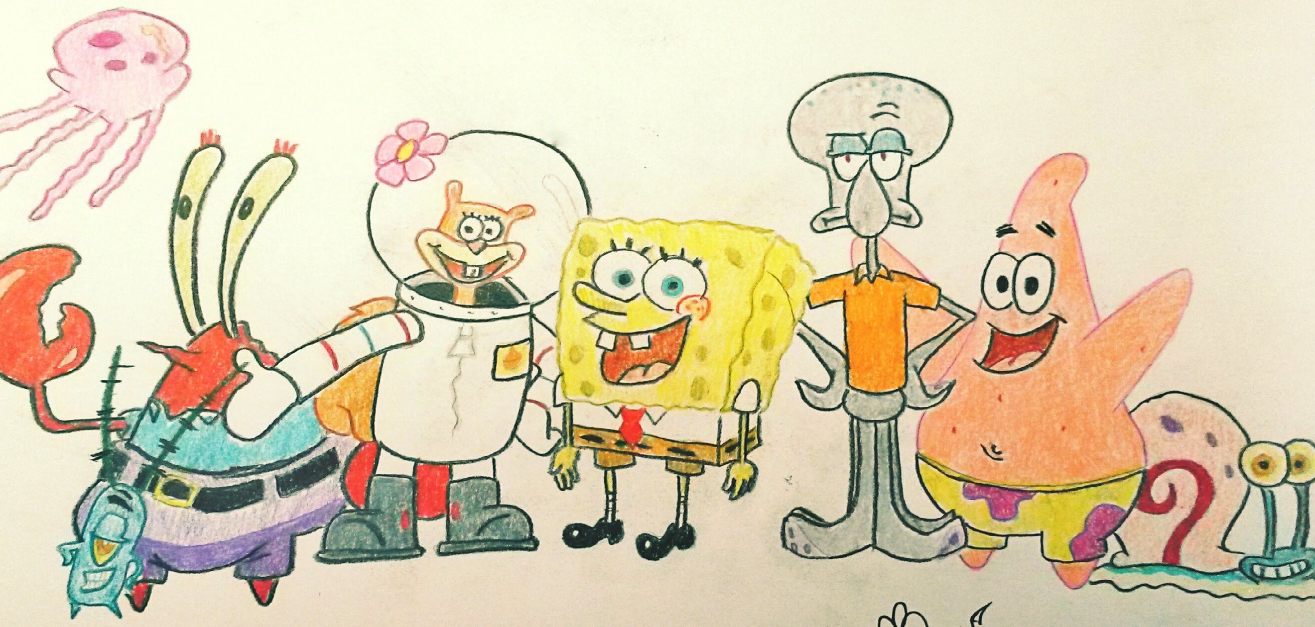 2640x1260 How To Draw Spongebob Step By Step + Funny Sketch And Picture