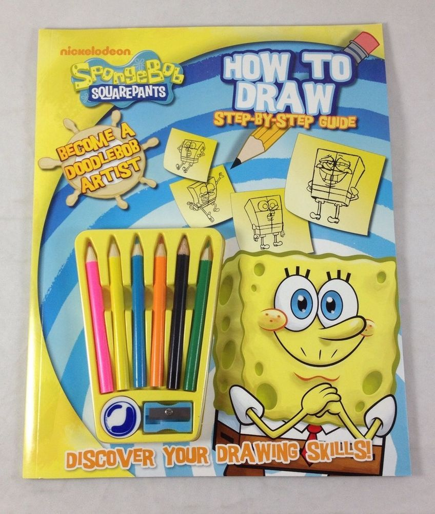 848x1000 Spongebob Squarepants How To Draw Guide Activity Book Artist Kit