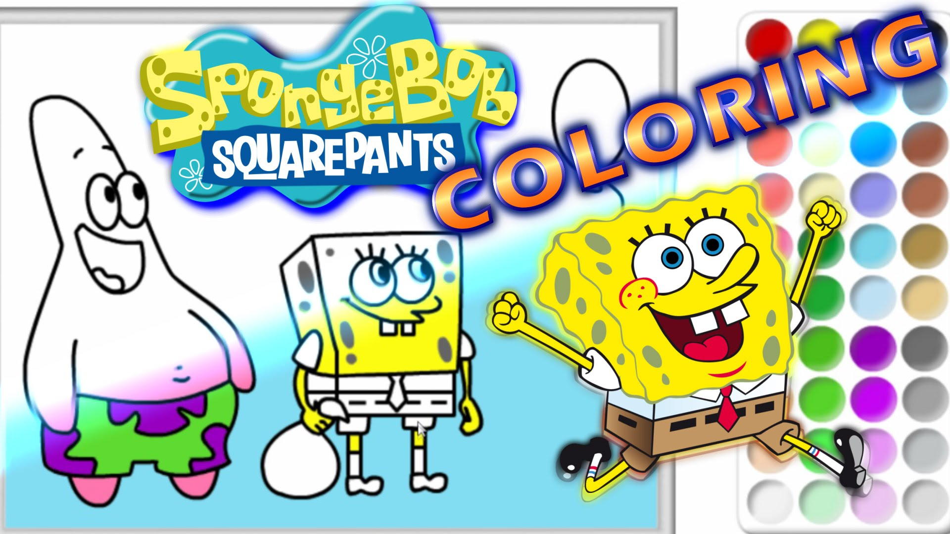 1920x1080 Spongebob Squarepants Speed Coloring Pages Squidward Diy Drawing