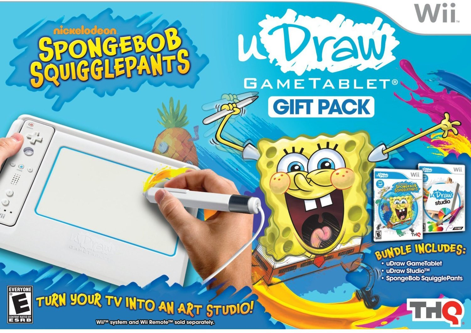 1500x1061 Udraw Game Tablet With Spongebob Squigglepants