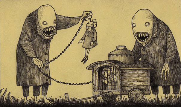 605x358 Gallery Creepy Monster Drawing,