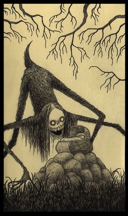 416x700 Pictures Scary Art Drawings,