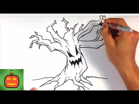 480x360 How To Draw A Scary Tree