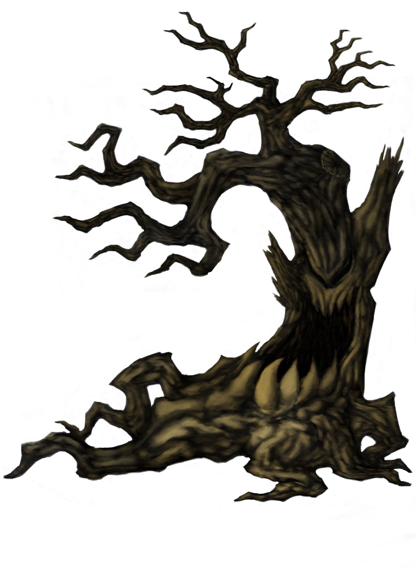 1600x2200 Spooky Tree Faces