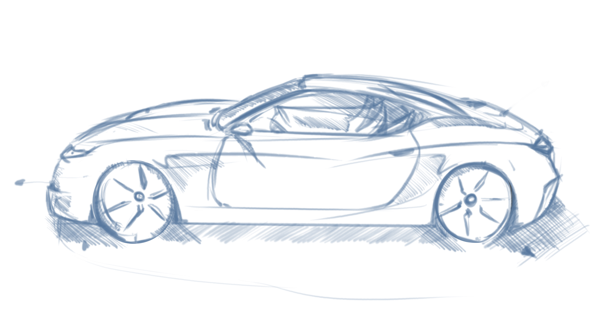 1920x1080 Car Sketch Perspective One Point Fundamentals