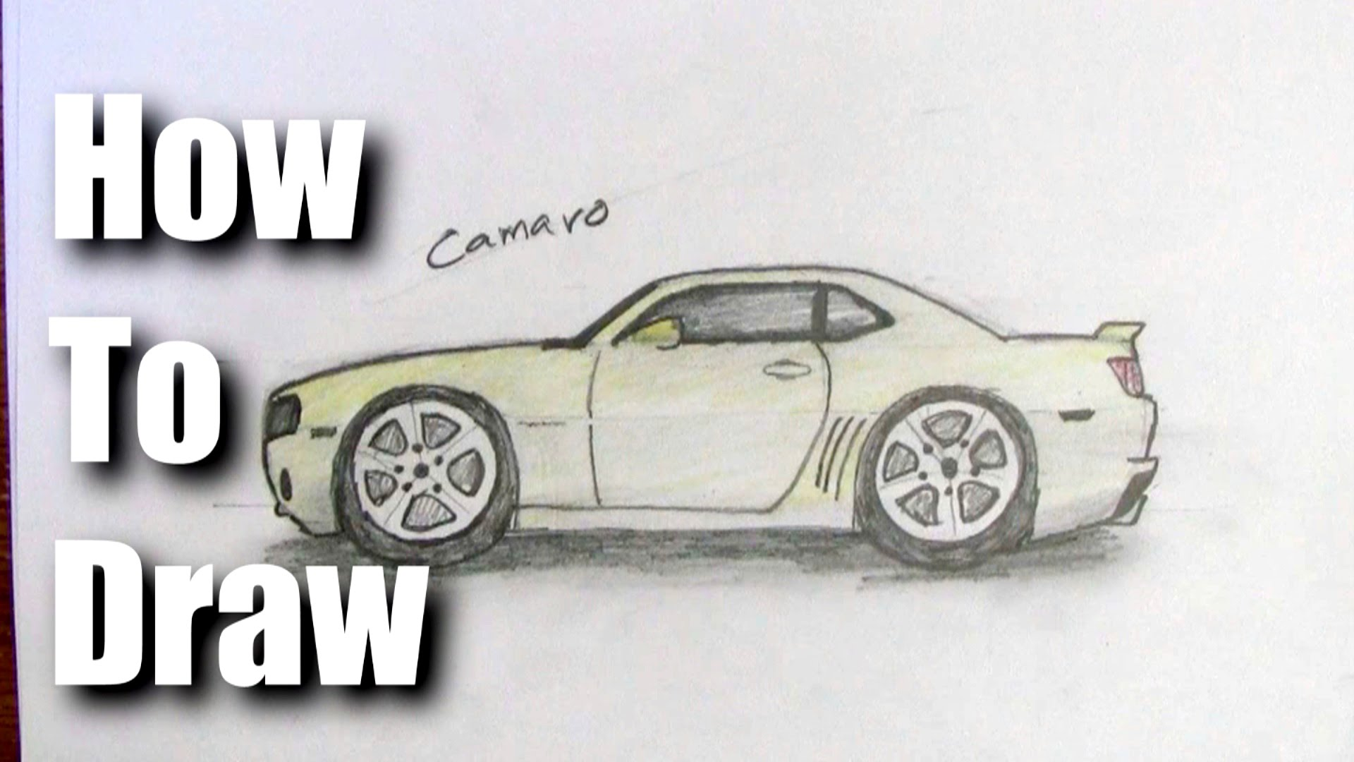 1920x1080 How To Draw A Camaro Sports Car