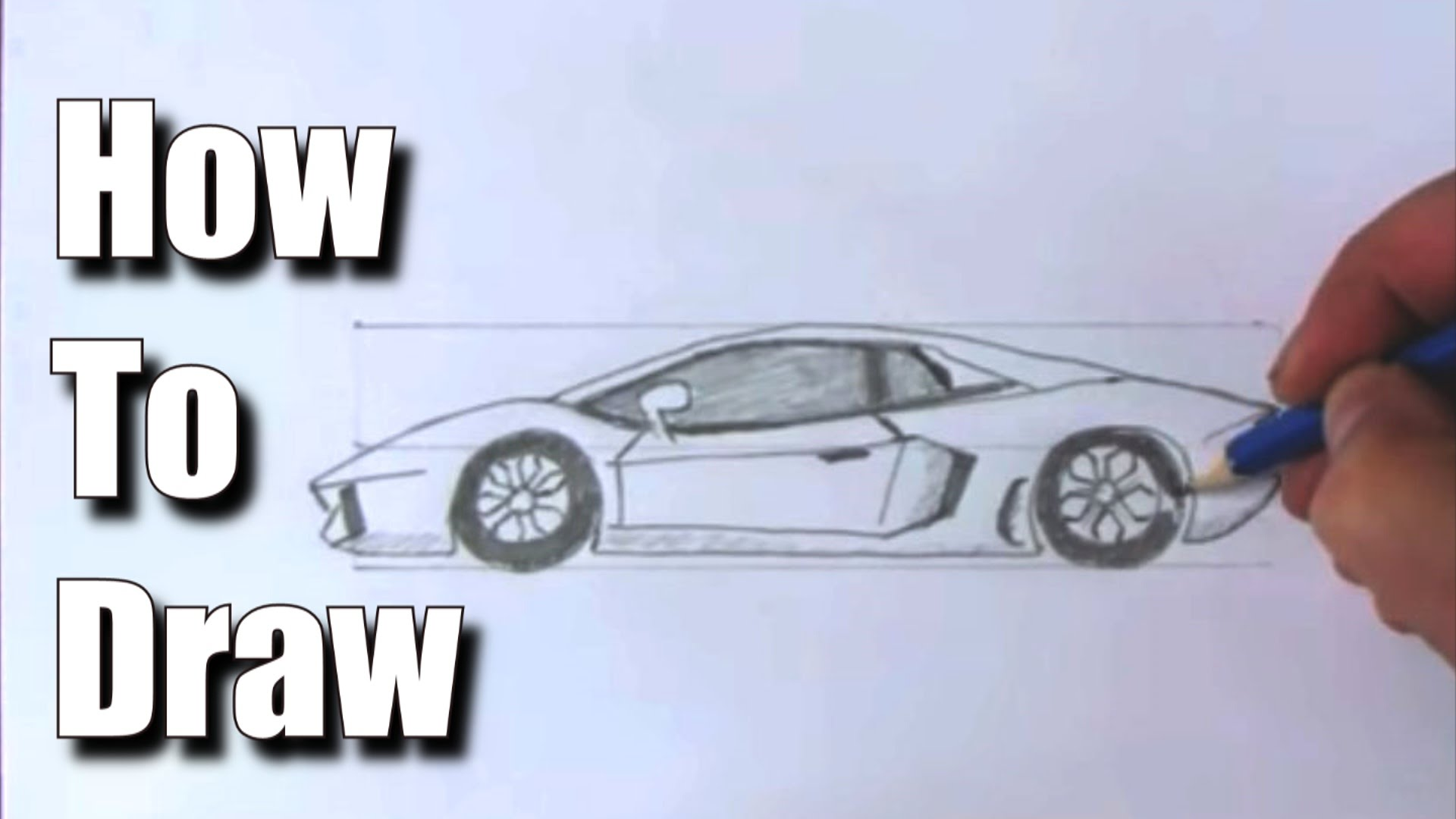 1920x1080 How To Draw A Sports Car Lamborghini