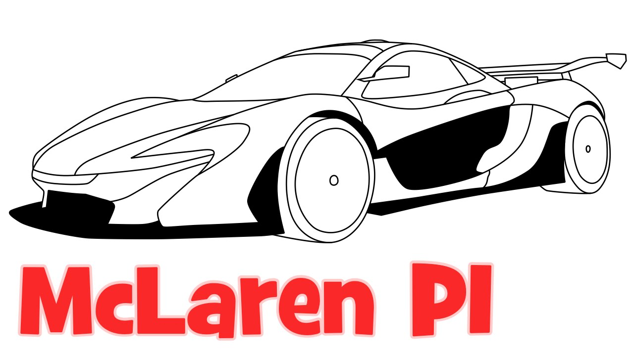 1280x720 How To Draw Mclaren P1 Sports Car