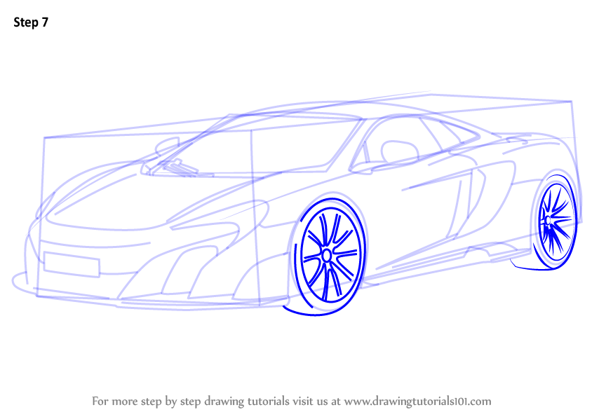 844x598 Learn How To Draw Mclaren 675lt (Sports Cars) Step By Step