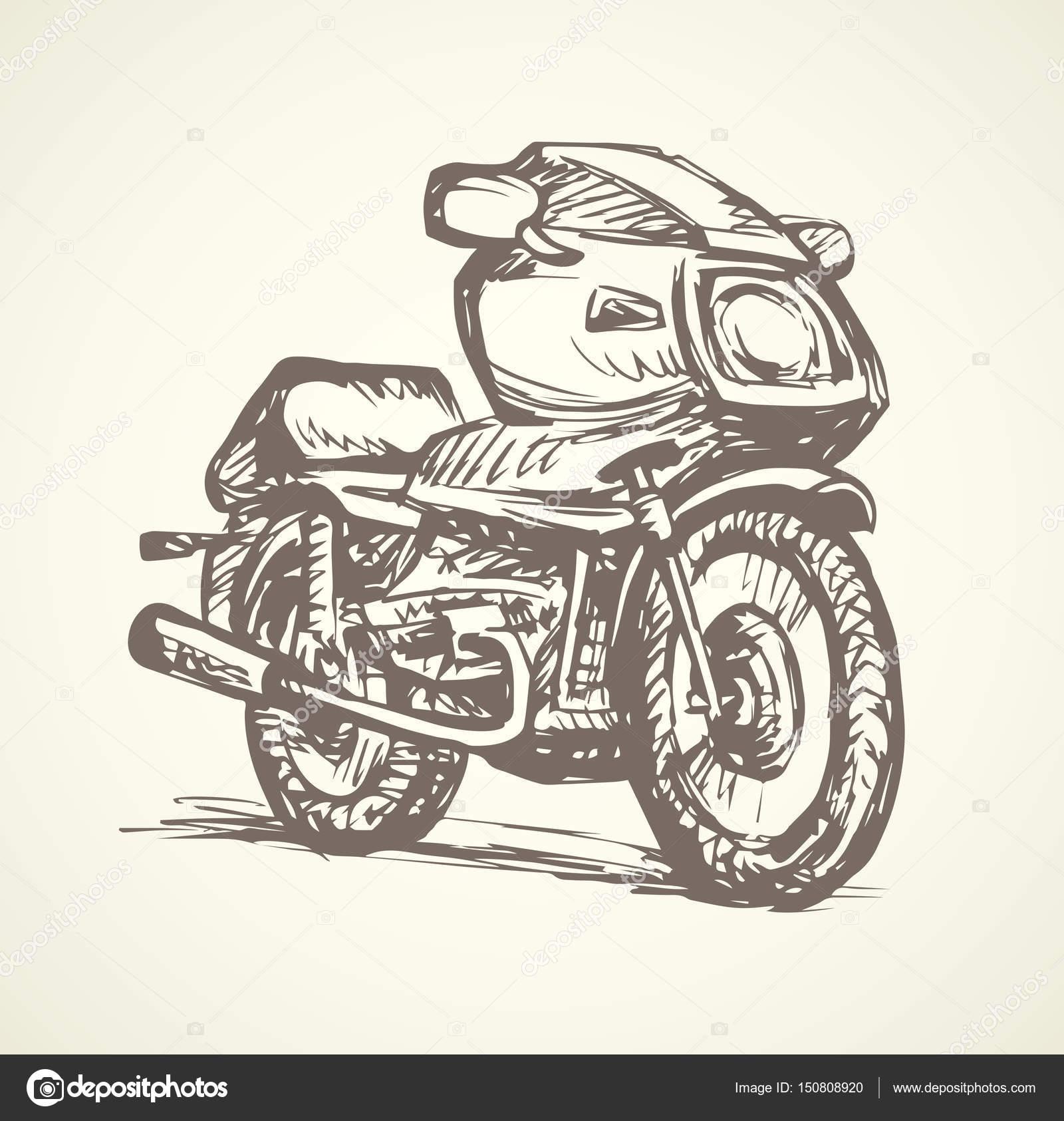 1600x1685 Motorcycle. Vector Drawing Stock Vector Marinka