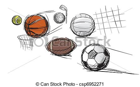 450x280 Balls For Different Kinds Of Sports Tennis Ball, Vector Clip
