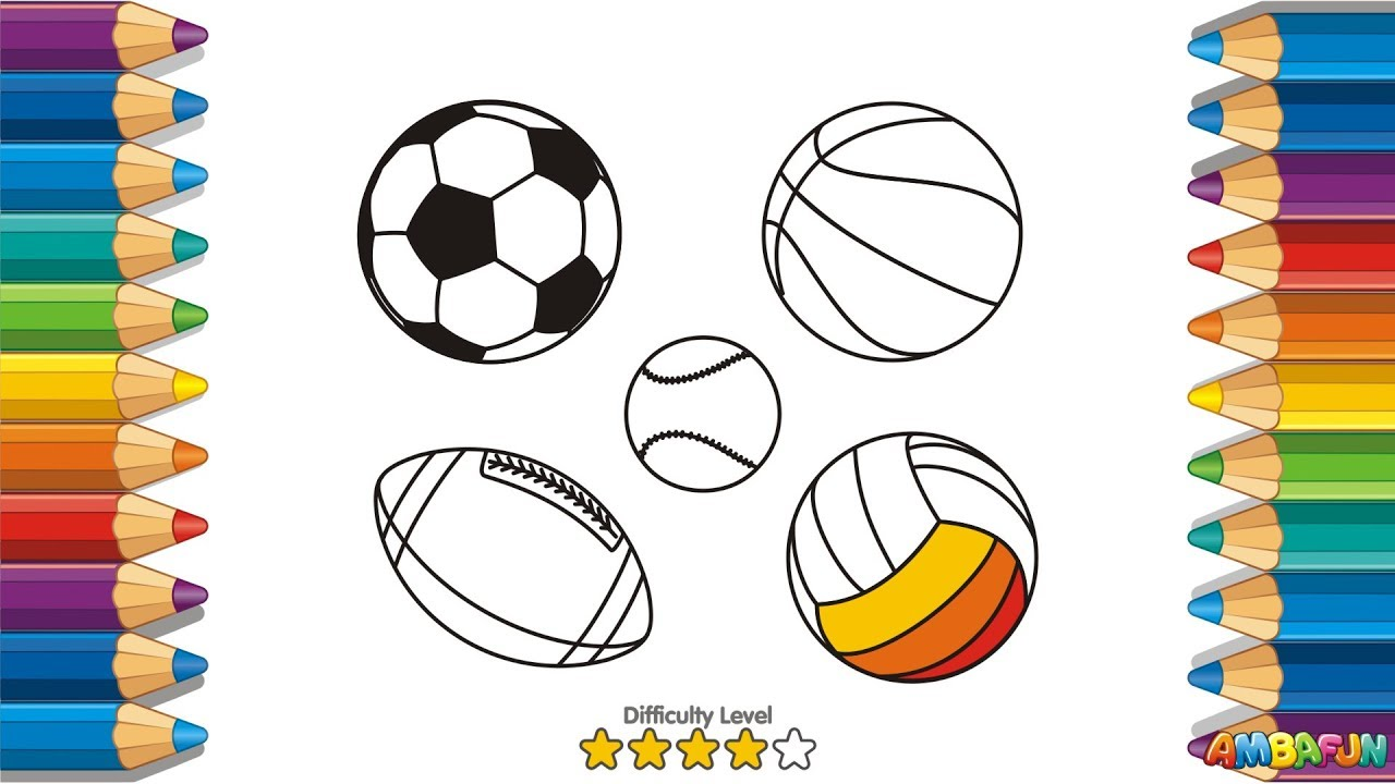 1280x720 How To Draw A Sport Balls. Art For Kids. Drawing Volleyball