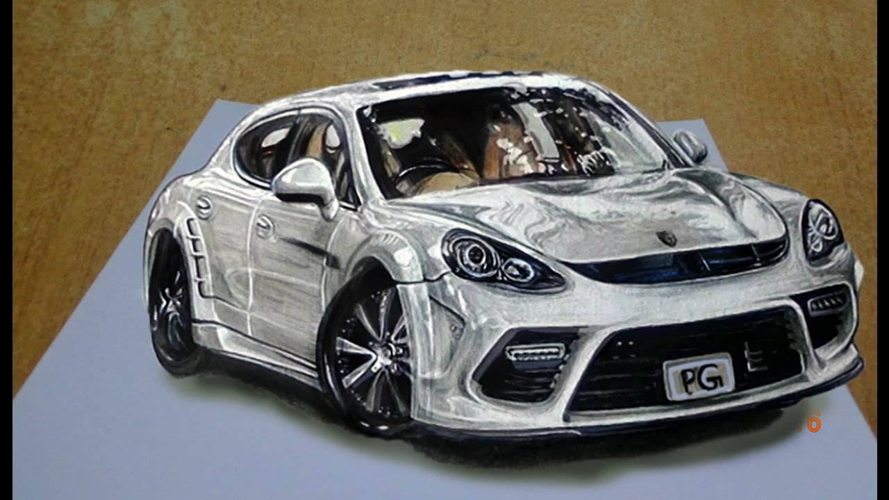 1280x720 Draw A Realistic 3d Sports Car Step By Step Easy