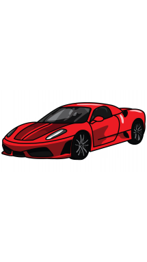 215x382 How To Draw Ferrari 360, A Sports Car, Easy Step By Step Drawing