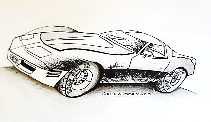 690x400 Sports Car Drawing Design For Kids