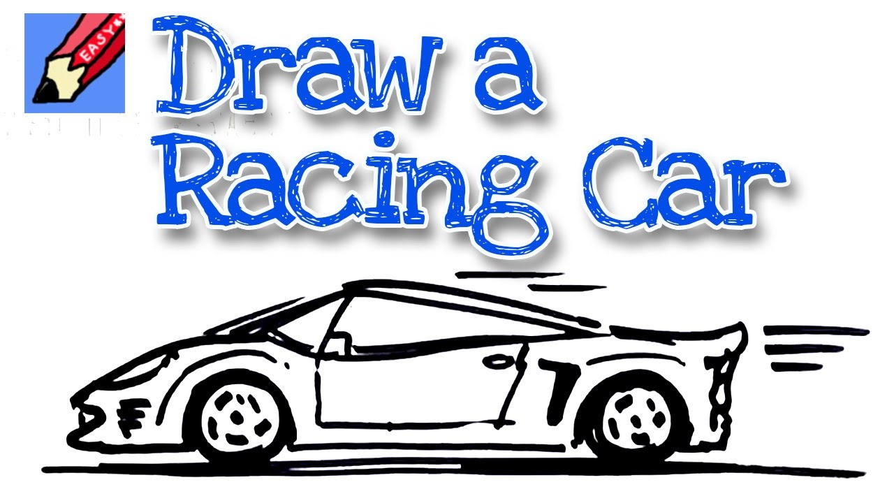 1280x720 Sports Car Drawing Step By Step