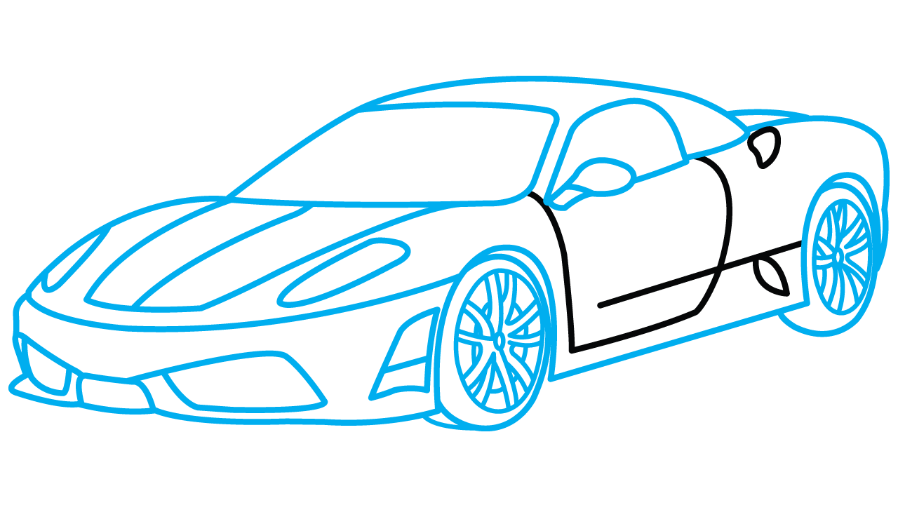 Sports Car Drawing Easy at GetDrawingscom Free for personal use