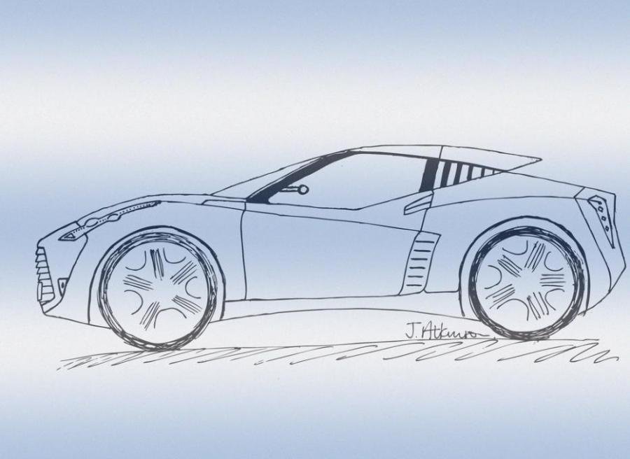 900x656 Sports Car Doodle. Types Drawings. Drawings. Pictures. Drawings