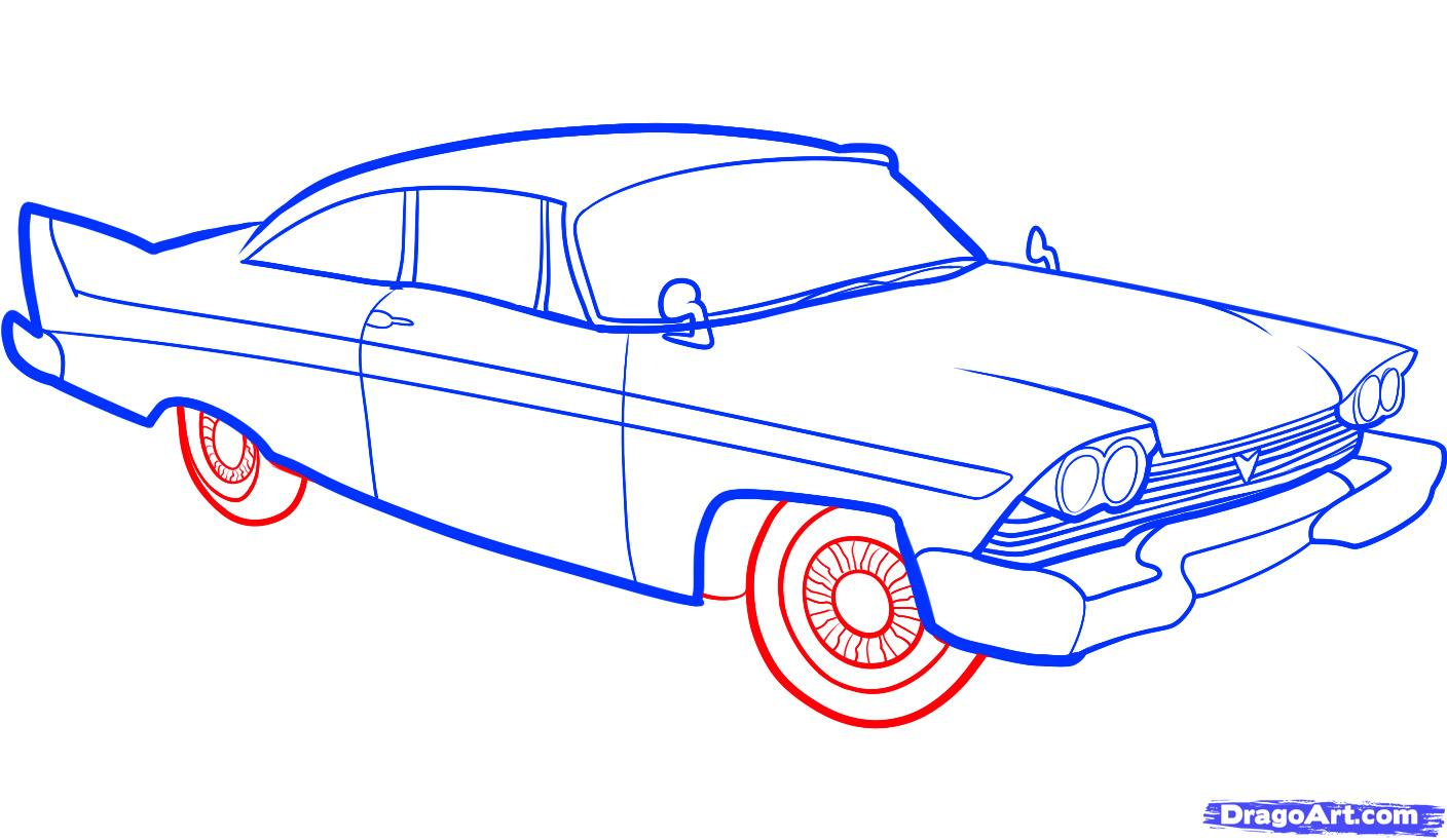 1408x818 How To Draw An Old Car, Old Car Step 7 How To Draw