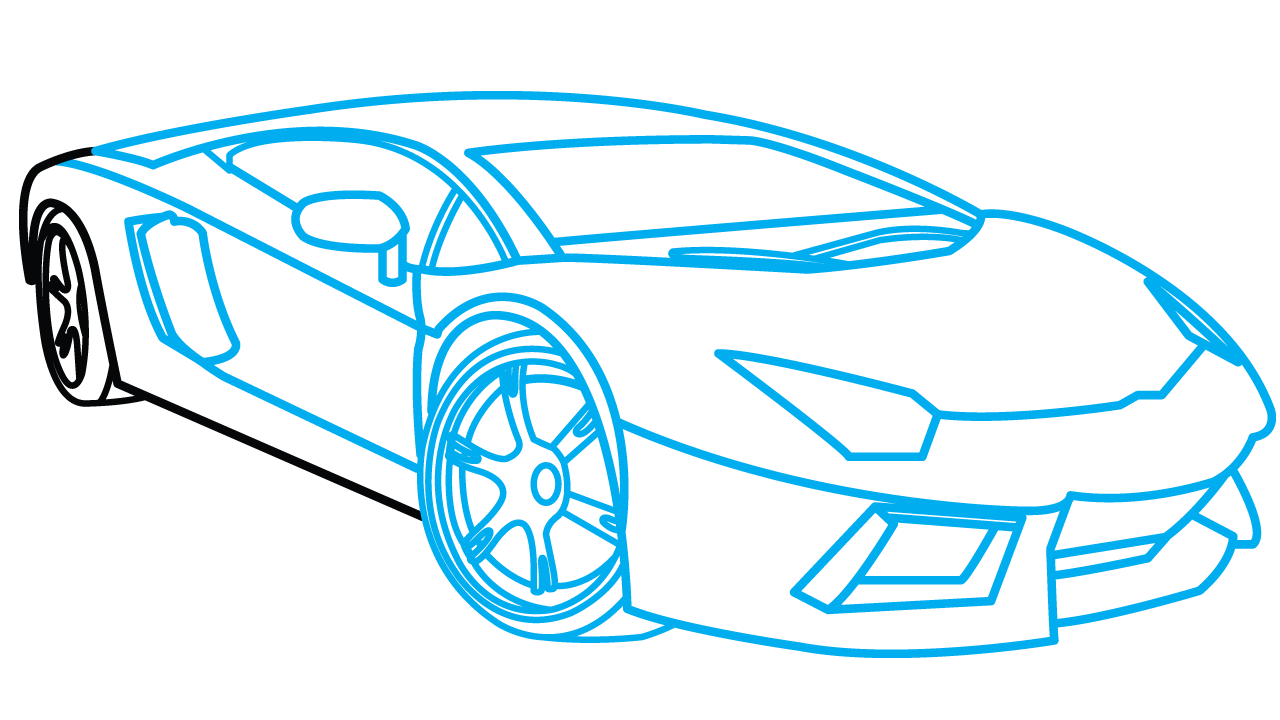 Sports Car Drawing Step By Step At Getdrawings Com Free For