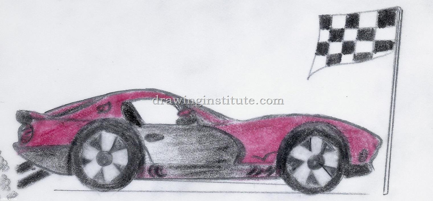how to draw a sports car lamborghini step by step