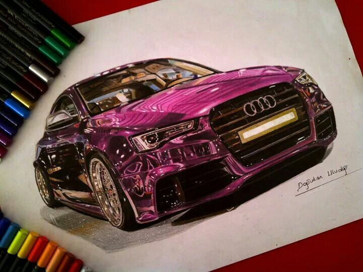 720x540 Amazing Drawing Of A Sports Car. Drawings Amazing