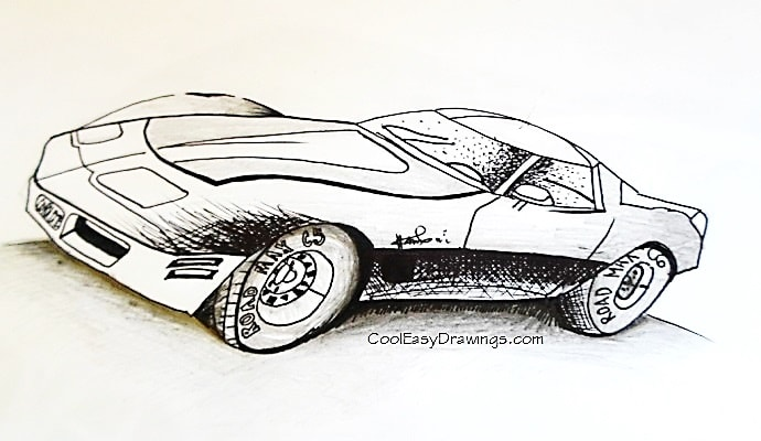 690x400 Simple Sports Car Drawing Design For Kids