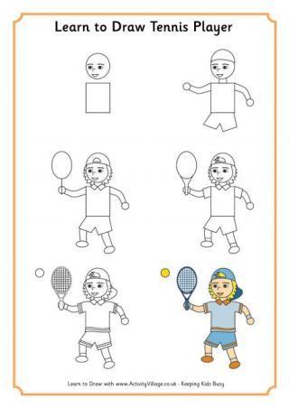 320x452 Hoe Teken Je Een Tennisser Learn To Draw A Tennis Player How
