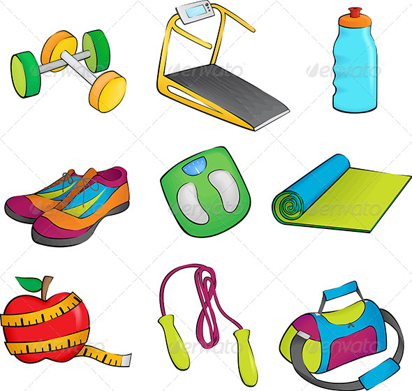 590x560 Exercise Equipment Icons Exercise Equipment And Fonts