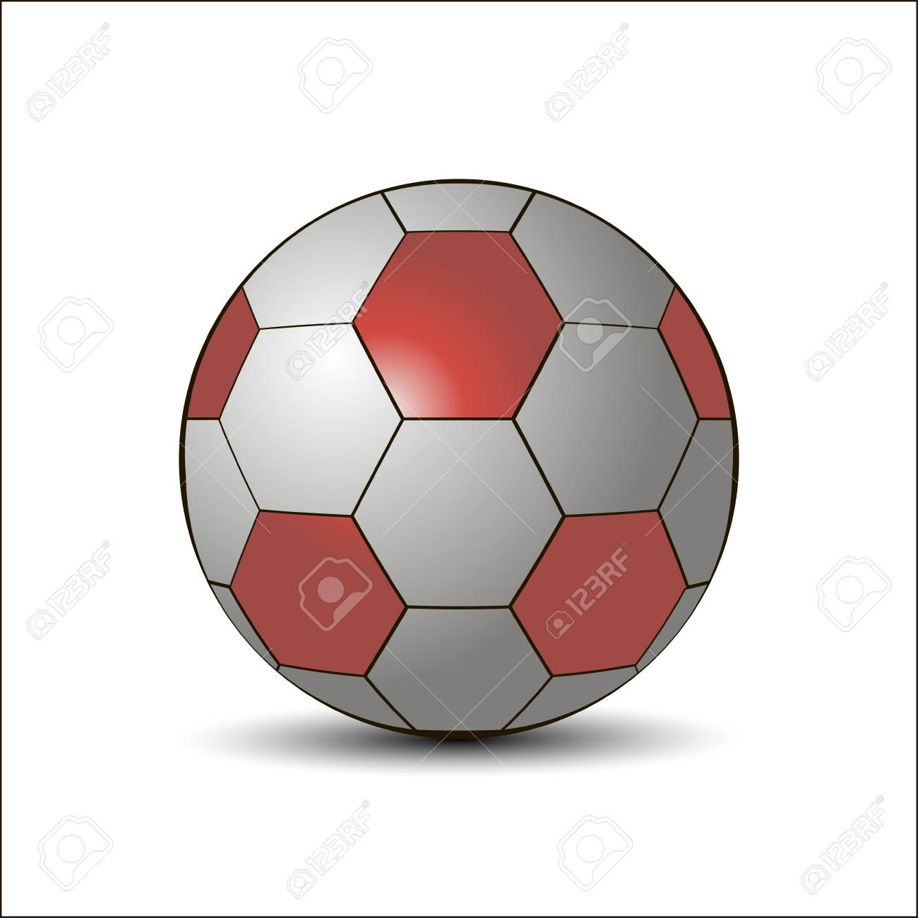 1300x1300 Illustration For The Theme Of A Flying Soccer Ball.isolated