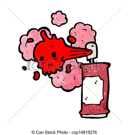 449x470 Cartoon Graffiti Skull Spray Can Vectors Illustration