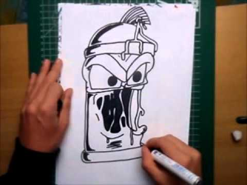 480x360 How To Draw A Graffiti Spray Can Character