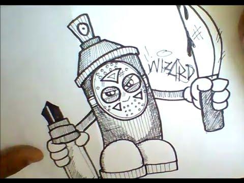 480x360 How To Draw Graffiti Spray Can With A Mask Como Dibujar Spray De