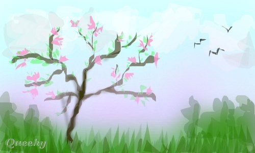 500x300 Spring A Landscape Speedpaint Drawing By Sweetheart