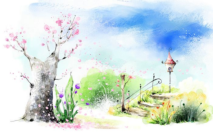 700x438 Paint A Spring Scene