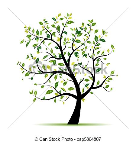 450x470 Spring Tree Green For Your Design Vectors Illustration