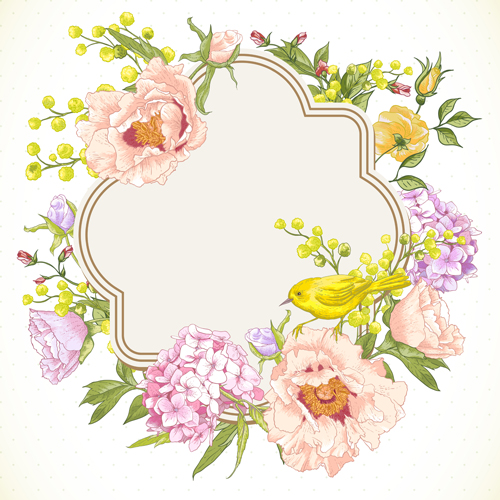 500x500 Drawing Spring Flower Vector Background Art 04
